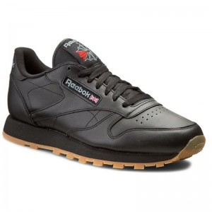 Black Friday 2020 | Reebok Chaussures Cl Lthr 49800 Black/Gum