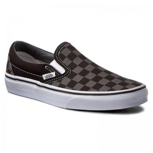 Black Friday 2020 | Vans Tennis Classic Slip-On VN000EYEBPJ Black/Pewter Checkerboard