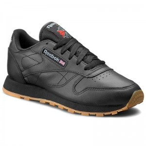 Black Friday 2020 | Reebok Chaussures Cl Lthr 49804 Black/Gum