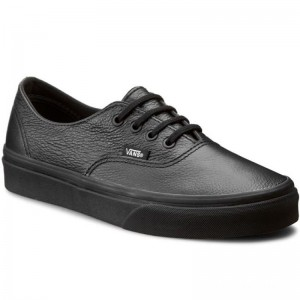 Black Friday 2020 | Vans Tennis Authentic Decon VN00018CGKM (Premium Leather) Black/Black