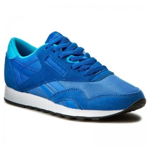 Black Friday 2020 | Reebok Chaussures Cl Nylon Mh BD1776 Echo Blue/Blue/Teal