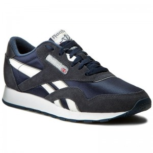 Black Friday 2020 | Reebok Chaussures Cl Nylon 39749 Team Navy/Platinum