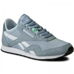 Black Friday 2020 | Reebok Chaussures Cl Nylon Slim Hv BD1784 Grey/Stonewash/White/Mint