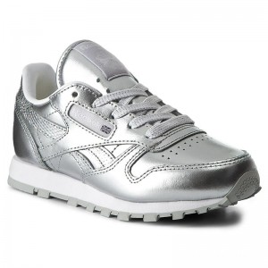Reebok Chaussures Classic Leather Metallic BS7459 Silver/White