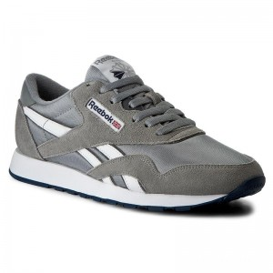 Black Friday 2020 | Reebok Chaussures Cl Nylon 36088 Platinum/Jet Blue