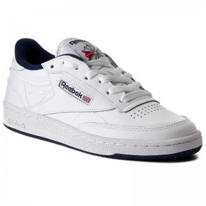 Black Friday 2020 | Reebok Chaussures Club C 85 AR0457 White/Navy