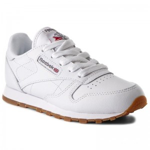 Reebok Chaussures Classic Leather AR1148 White/Gum/Int