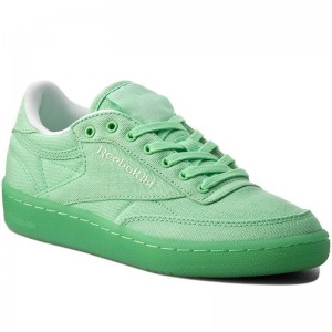 Black Friday 2020 | Reebok Chaussures Club C 85 Canvas BD2840 Mint Green/White