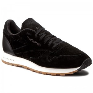 Black Friday 2020 | Reebok Chaussures Cl Leather Sg BS7892 Black/Chalk Gum