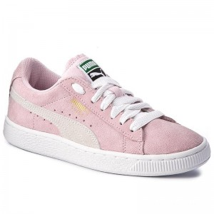 Puma Sneakers Suede Jr 355110 30 Pink Lady/White/Team Gold