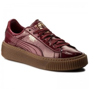 Black Friday 2020 | Puma Sneakers Basket Platform Patent Wn's 363314 04 Tibetan Red/Tibetan Red