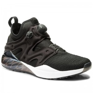 Black Friday 2020 | Reebok Chaussures The Pump Izarre BS5931 Black/Oil Slick/White/Vlt