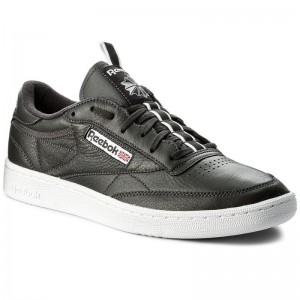Black Friday 2020 | Reebok Chaussures Club C 85 Rt CM9571 Coal/White/Moss
