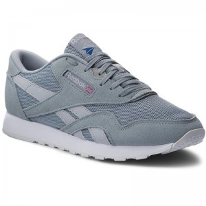 Black Friday 2020 | Reebok Chaussures Cl Nylon Om CM9991 Meteor Grey/Cloud Gry/Wht