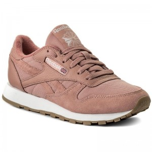 Reebok Chaussures Cl Leather Estl BS9723 Chalk Pink/White