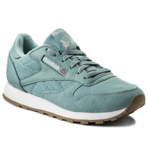 Black Friday 2020 | Reebok Chaussures Cl Leather Estl BS9724 Whisper Teal/White