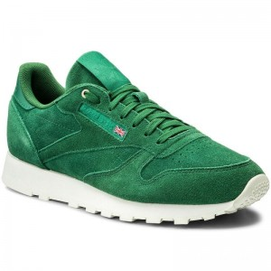 Black Friday 2020 | Reebok Chaussures Cl Leather Mcc CM9607 Fern Green/Chalk