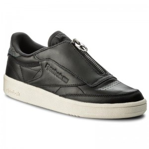 Black Friday 2020 | Reebok Chaussures Club C 85 Zip M CN0140 Black/Chalk