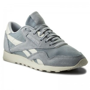 Black Friday 2020 | Reebok Chaussures Cl Nylon Mesh CN0632 Cloud Grey/Chalk