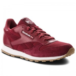 Black Friday 2020 | Reebok Chaussures Cl Leather Estl CN1134 Urban Maroon/White