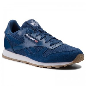 Black Friday 2020 | Reebok Chaussures Cl Leather Estl CN1139 Washed Blue/White