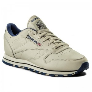 Black Friday 2020 | Reebok Chaussures Cl Lthr 28412 Ecru/Navy