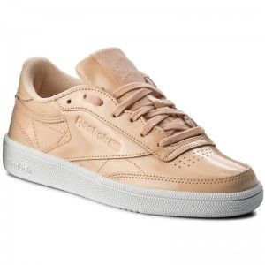 Black Friday 2020 | Reebok Chaussures Club C 85 Patent BS9778 Desert Dust/White
