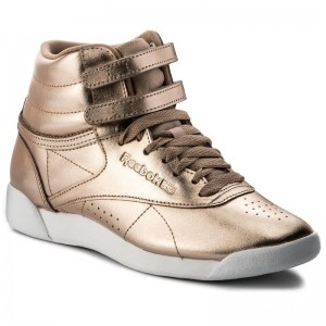 Black Friday 2020 | Reebok Chaussures F/S Hi Metallic CN0573 Rose Gold/Wht/Silvr Peony