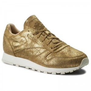 Black Friday 2020 | Reebok Chaussures Cl Lthr Shimmer CN0574 Xj Gold/Chalk