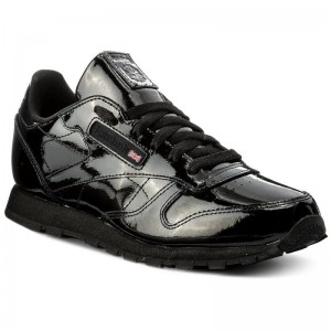 Black Friday 2021 Reebok Chaussures Classic Leather Patent CN2061 Black