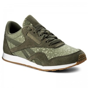 Reebok Chaussures Cl Nylon Slim Txt Lux BS9446 Hunter Green/White/Gum