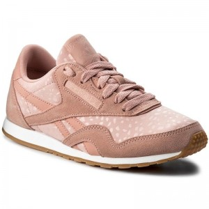 Black Friday 2020 | Reebok Chaussures Cl Nylon Slim Txt Lux BS9447 Chalk Pink/White/Gum