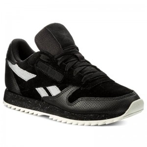 Reebok Chaussures Cl Lthr Ripple Sm BS9726 Black/Cool Shadow/Chalk