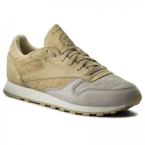 Black Friday 2020 | Reebok Chaussures Cl Lthr Nbk BS9862 Sandstone/Straw/Chalk
