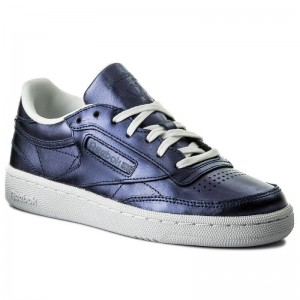 Black Friday 2020 | Reebok Chaussures Club C 85 S Shine CM8687 Royal Dark Blue/White