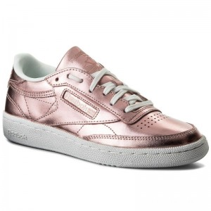 Black Friday 2020 | Reebok Chaussures Club C 85 S Shine CN0512 Copper/White