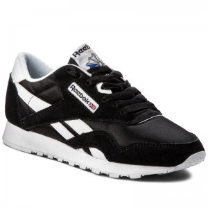 Black Friday 2020 | Reebok Chaussures Cl Nylon 6606 Black/White