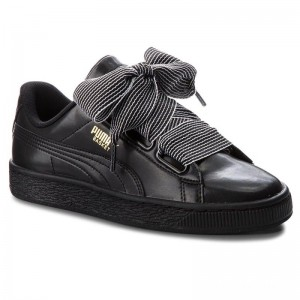 Black Friday 2020 | Puma Sneakers Basket Heart Wn's 365198 01 Black