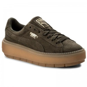 Puma Sneakers Platform Trace Wn's 365830 03 Olive Night