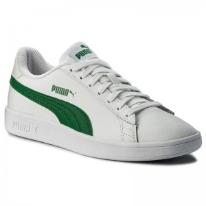 Black Friday 2020 | Puma Sneakers Smash Vl L 365215 03 White/Amazon Green