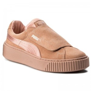 Black Friday 2020 | Puma Sneakers Platform Strap Satin EP 366009 01 Peach Beige/Peach Beige/Rose
