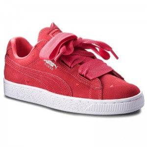 Puma Sneakers Suede Heart Valentine Jr 365135 01 Paradise Pink/Paradise Pink