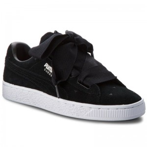 Black Friday 2020 | Puma Sneakers Suede Heart Valentine Jr 365135 02 Black/Puma Black