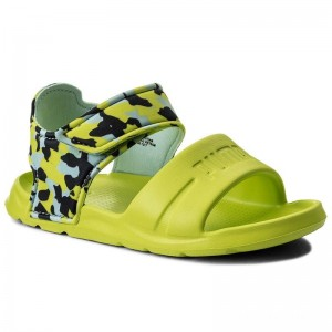 Black Friday 2020 | Puma Sandales Wild Sandal Injex Camo PS 365081 01 Peacoat/Limepunch
