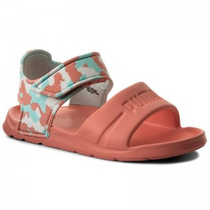 Black Friday 2020 | Puma Sandales Wild Sandal Injex Camo PS 365081 03 Soft Fluo Peach/Puma White