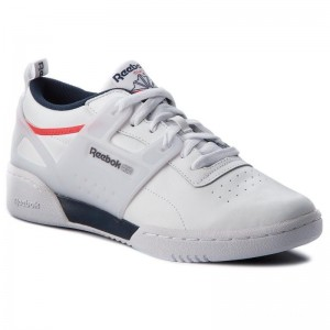 Reebok Chaussures Workout Advance L CN4309 White/Collegiate Navy/Red