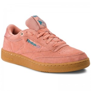 Black Friday 2020 | Reebok Chaussures Club C 85 Mu CN3865 Dirty Apricot/Teal/Gum