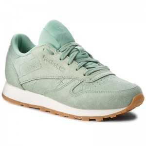 Black Friday 2020 | Reebok Chaussures Cl Lthr CN4987 Industrial Green/Chalk
