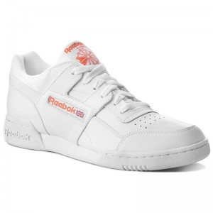 Black Friday 2020 | Reebok Chaussures Workout Plus Mu CN5203 White/Bright Lava