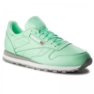 Reebok Chaussures Cl Leather Mu CN5382 Digital Green/White/Grey